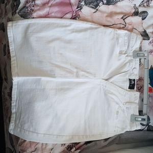 Pretty white denim skirt w sexy slit at the back